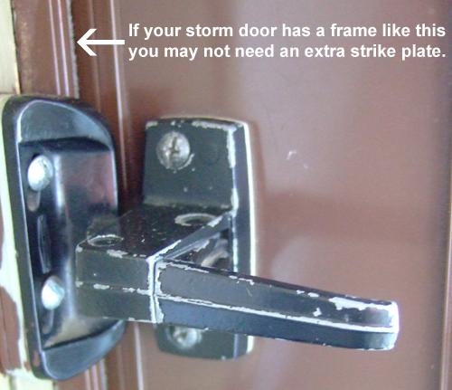 Deadbolt Lock For Inside Of Surface Mount Storm Door Storm