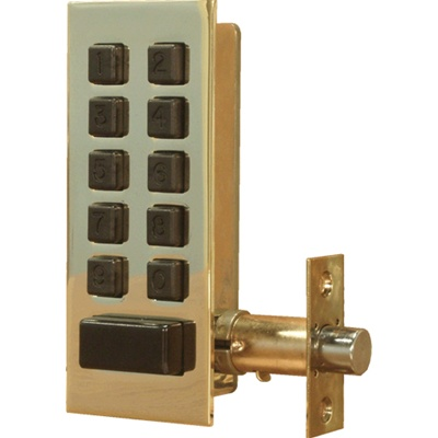 "Preso-Matic Keyless Deadbolt with 5/8"" Throw - Marine Grade Finish!"