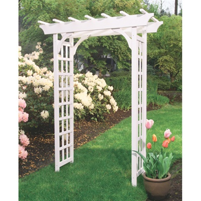 Cascadia Painted Wood Arbor Free Shipping