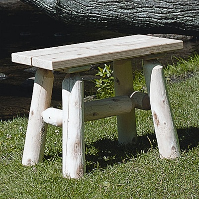 Cedar Straight Bench Pair
