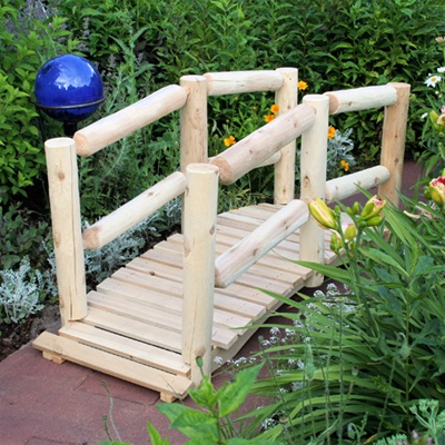 Decorative Wooden Bridge - Log Cedar
