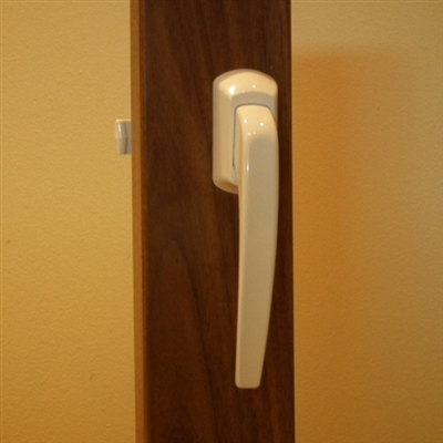 Albany Pull Handle Storm Door Set in White