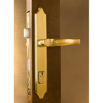 Burlington Mortise Storm Door Hardware Bright Brass