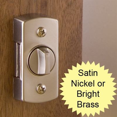 Bright Brass or Satin Nickel Deadbolt Lock for Surface Mount Storm Door