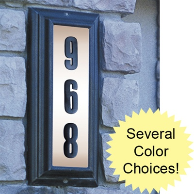Address Numbers - Edgewood Vertical Illuminated Sign
