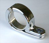 Motorcycle P-Clamp Mounting Bracket Chrome
