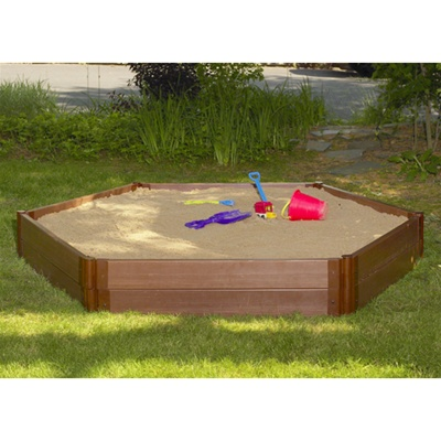 "Hexagon Sandbox, 7' x 8' x 12"" With Cover & Liner-300001234"