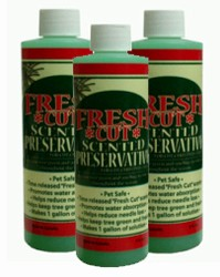 "3 bottles of 8oz. ""Fresh Cut"" scented Christmas Tree Preservative"